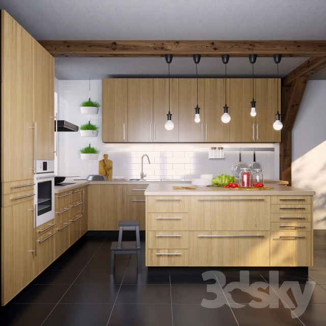 Ikea Kitchen Gallery: IKEA Kitchen EKESTAD Oak (ekestad Oak
