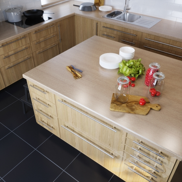 IKEA Kitchen EKESTAD Oak (ekestad Oak
