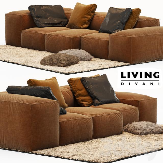 3d models sofa sofa extrasoft living divani. Black Bedroom Furniture Sets. Home Design Ideas