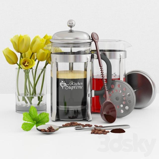 Kitchen Tea Accessories: 3d Models: Other Kitchen Accessories