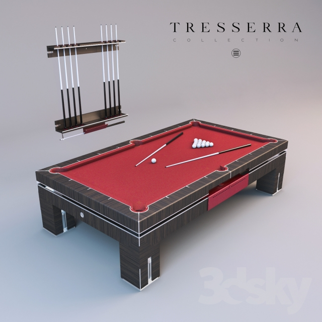 D Models Billiards Pool Table And Cue Rack Tresserra Bolero - How to rack a pool table