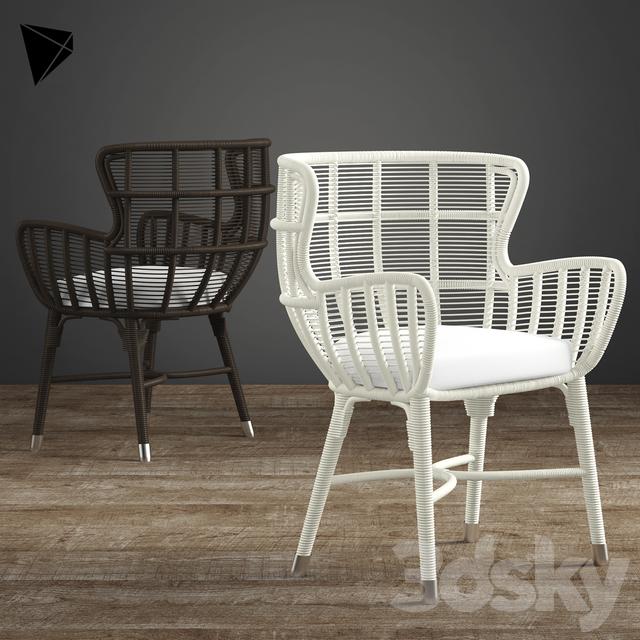 Palecek Palermo Chair - 3d Models: Chair - Palecek Palermo Chair