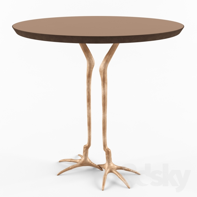 3d Models Table Arteriors Emili Accent Table