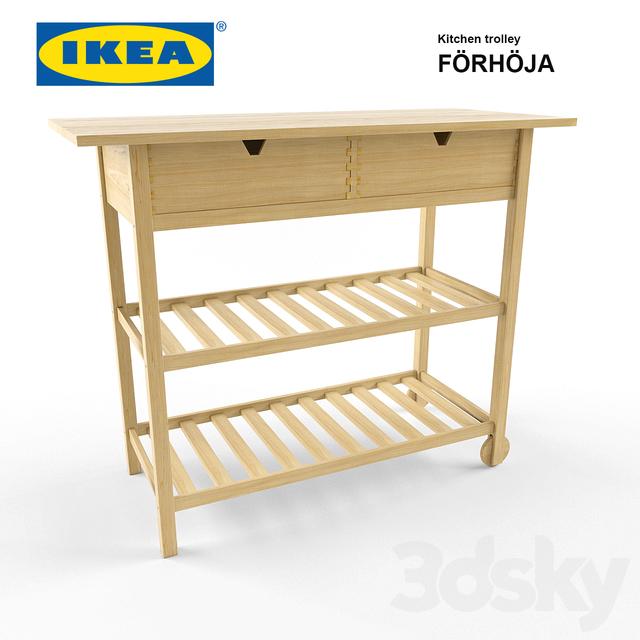 3d models: Kitchen - Ikea Kitchen Trolley - Förhöja