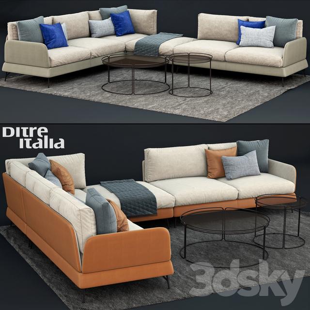 3d models: Sofa - Ditre Italia JASPER Canapé