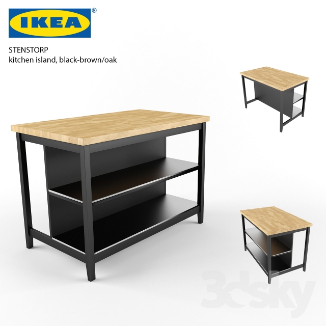 3d models table ikea stenstorp kitchen sland for Ikea stenstorp ka cheninsel