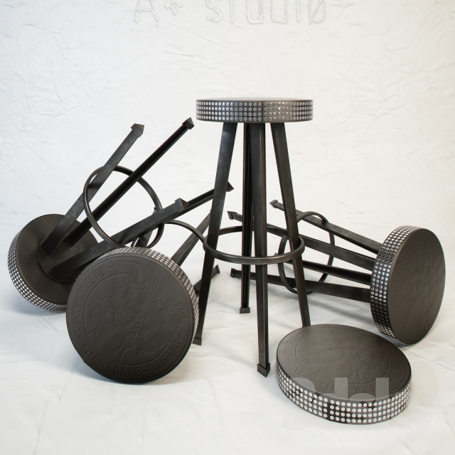 3d models Chair DIESEL Bar Stud stool by Moroso : 77164258553f7486926 from 3dsky.org size 640 x 640 jpeg 227kB
