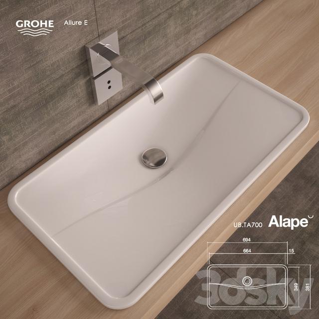 Washbasin Alape UB.TA700. Mixer - Grohe Allure E