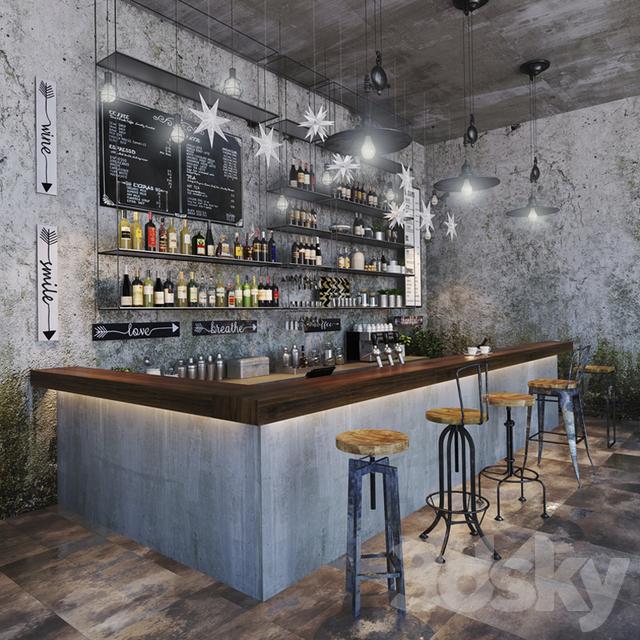D models restaurant bar