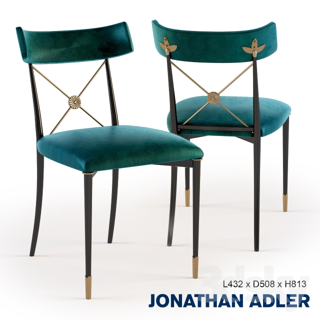 3d Models Chair Jonathan Adler Rider Dining Chair 22971