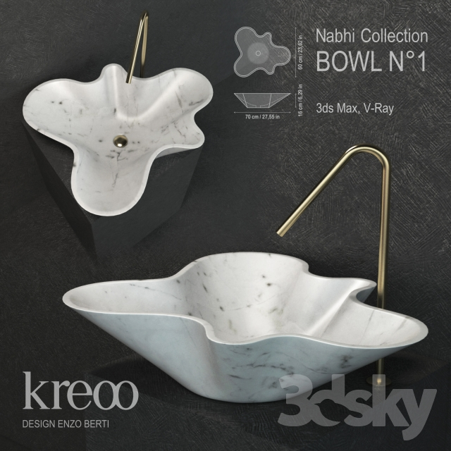 Marble sink Kreoo. Nabhi № 1.