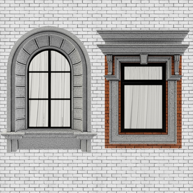 3d models windows classic frame window 2 for Window 3d model