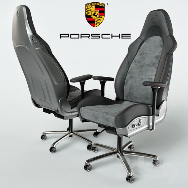 Porsche Office Chair & 3d models: Office furniture - Porsche Office Chair