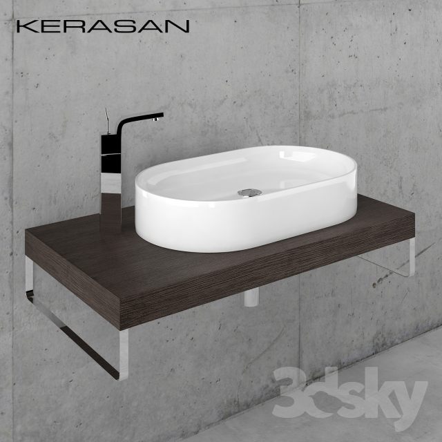Sink Kerasan Ciotola with worktop