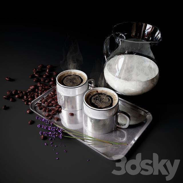 Coffee Set with milk