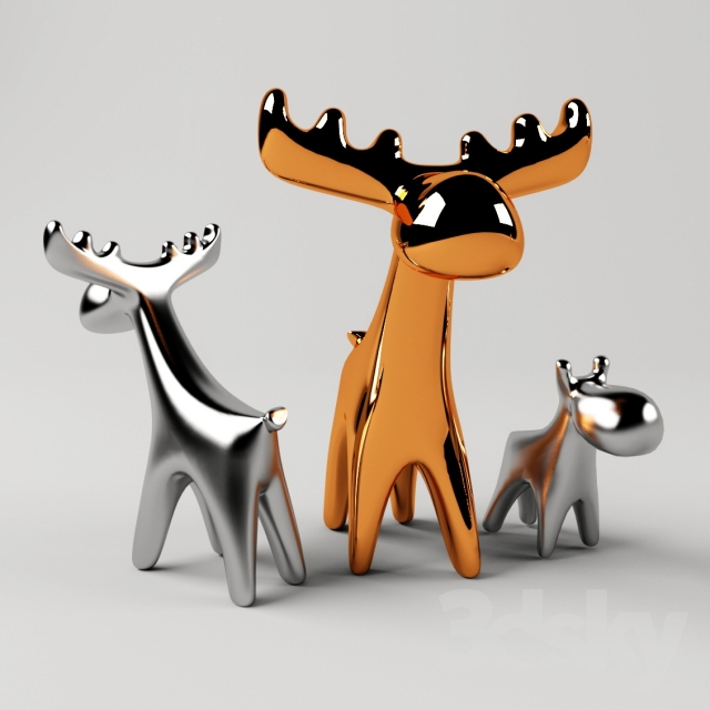 Deer. Ceramic decor