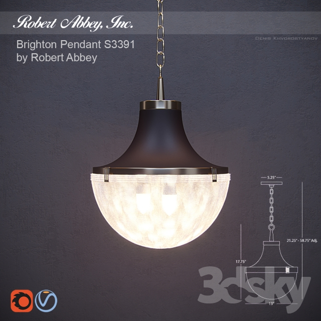 3d models ceiling light robert abbey brighton pendant s3391 robert abbey brighton pendant s3391 aloadofball Gallery