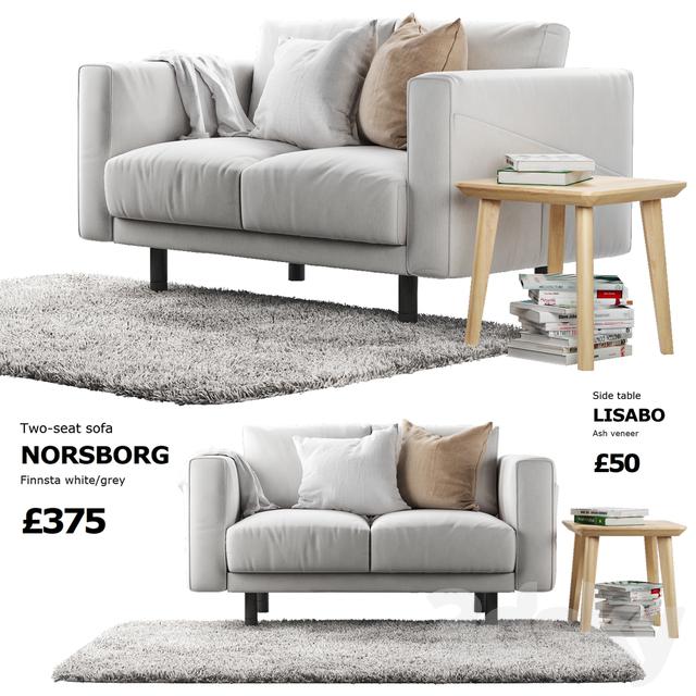 3d models sofa sofa ikea norsborg 1. Black Bedroom Furniture Sets. Home Design Ideas