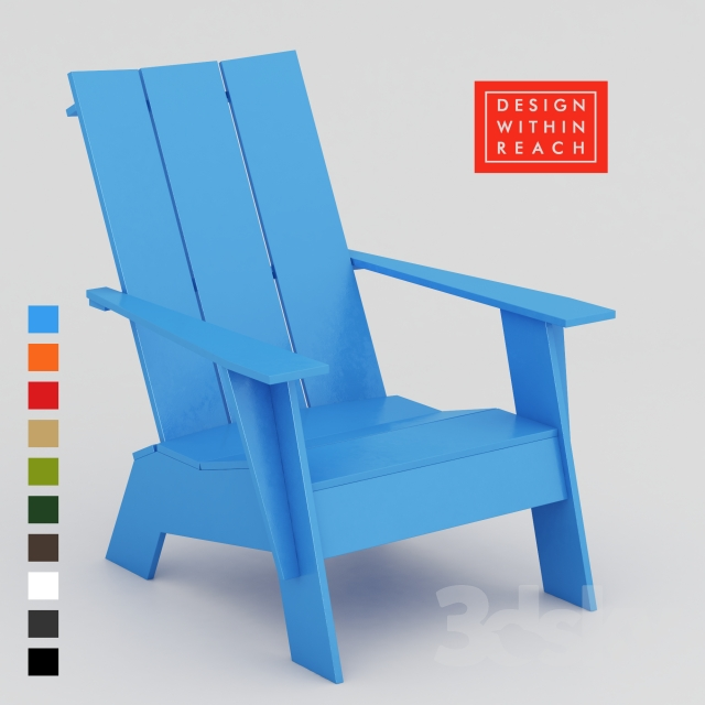 3d models: Arm chair - Adirondack Chair DESIGN WITHIN REACH (10 colors)