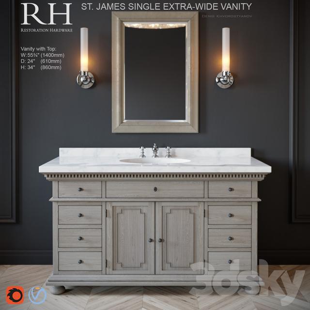 St.James single extra-wide vanity