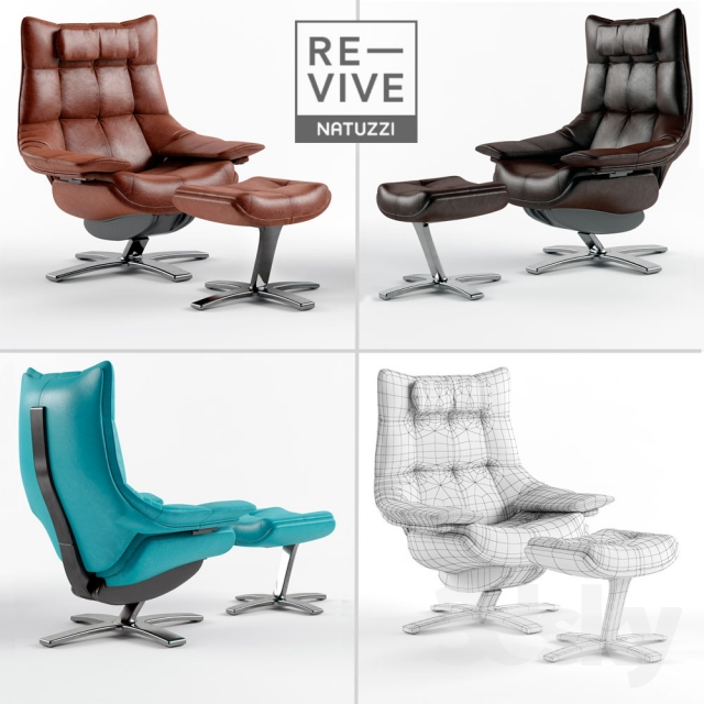 Chair Natuzzi Re-Vive Quilted