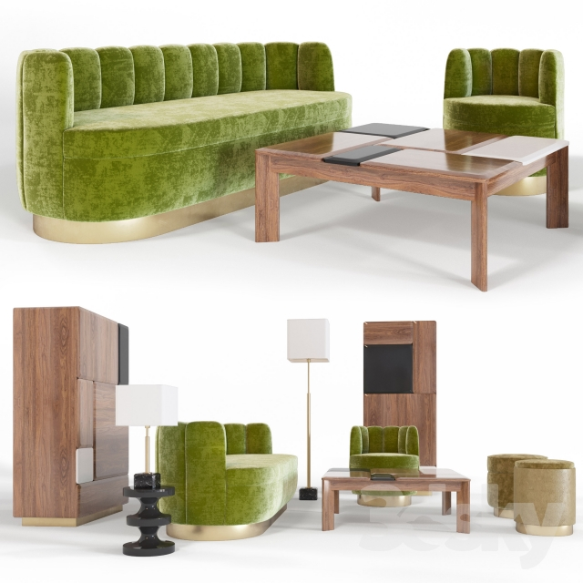 3d models sofa set by india mahdavi for India mahdavi furniture