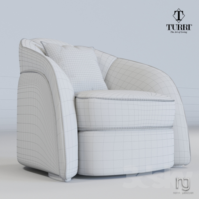 3d Models Arm Chair Turri Stardust Ta670