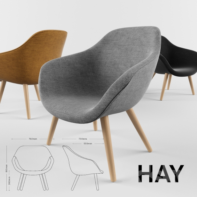 Hay Lounge Stoel.3d Models Arm Chair Hay Lounge Chair Aal82