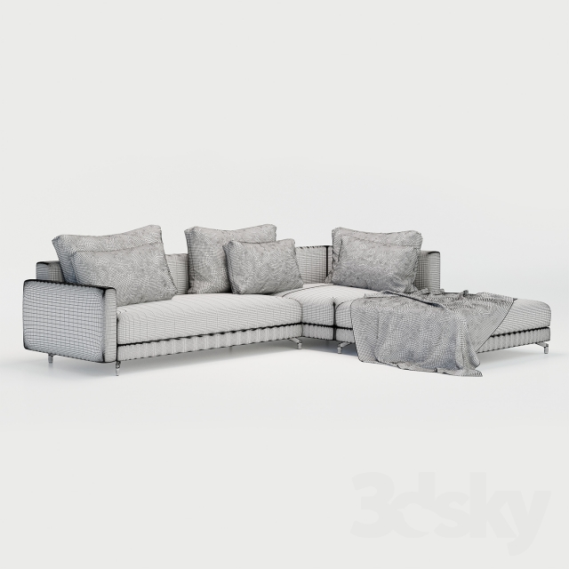 3d models: Sofa - Nuvola Rolf benz