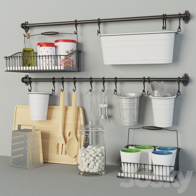 3d models: Other kitchen accessories - Ikea Kitchen set