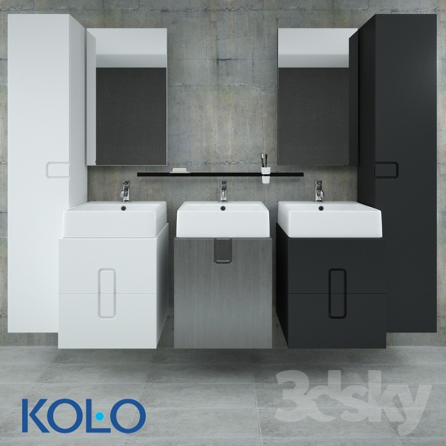 3d Models Bathroom Furniture A Set Of Furniture Kolo Twins