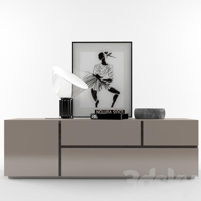 3d models: Sideboard & Chest of drawer - poliform free