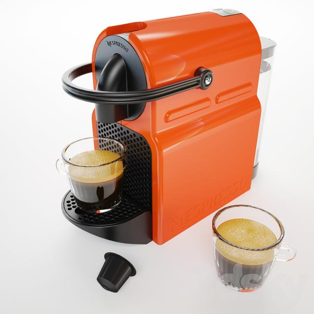 3d models kitchen appliance nespresso krups inissia. Black Bedroom Furniture Sets. Home Design Ideas