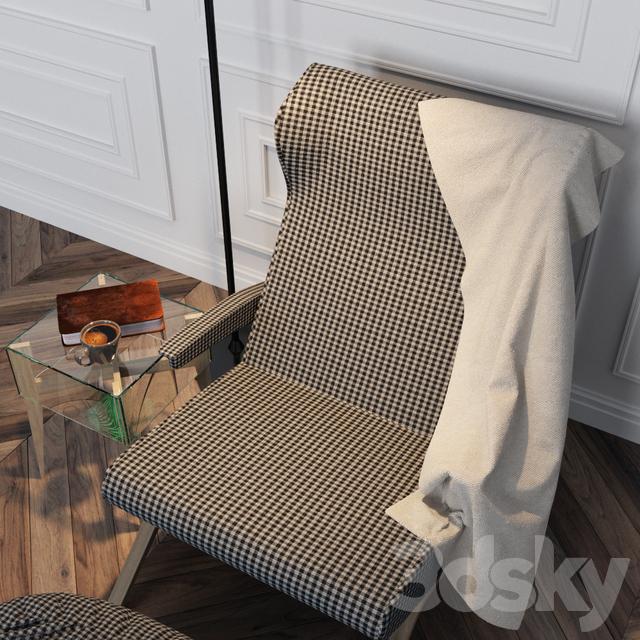 3d Models Arm Chair Ligne Roset Mix