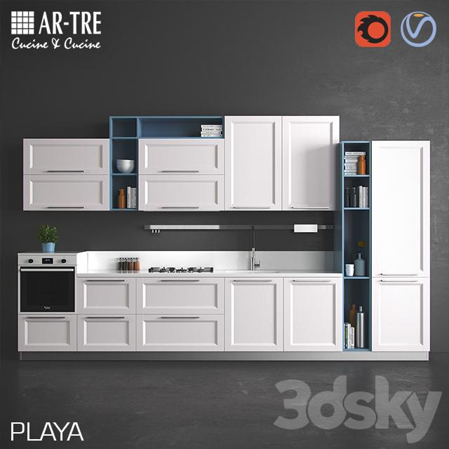 3d models: Kitchen - PLAYA by AR-TRE