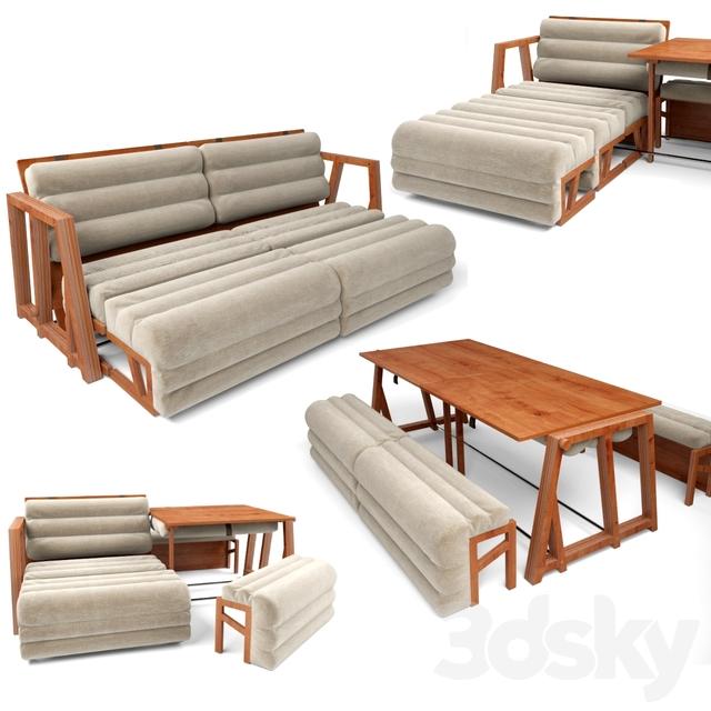 3d Models Sofa 3MOODS Transformer table Chair