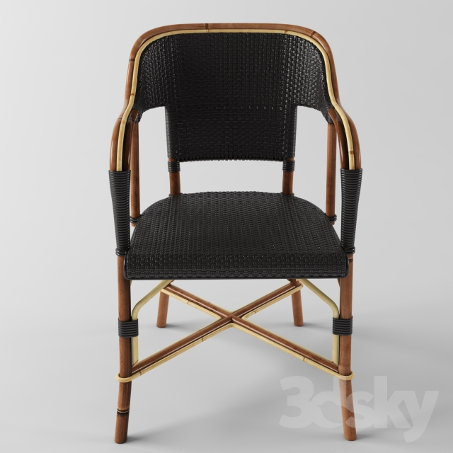 3d models chair matignon french cafe chair