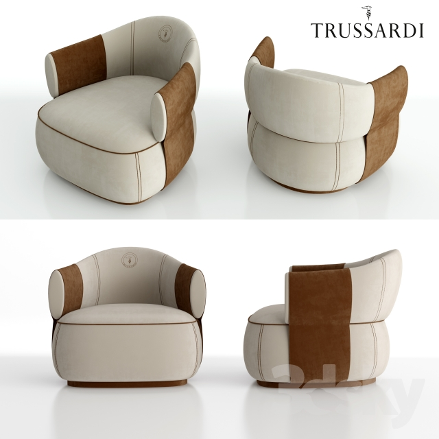 3d Models Arm Chair Trussardi Casa Larzia Armchair