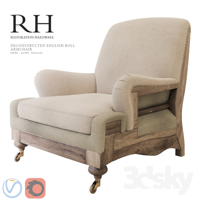3d models: Arm chair - Restoration Hardware Deconstructed ...