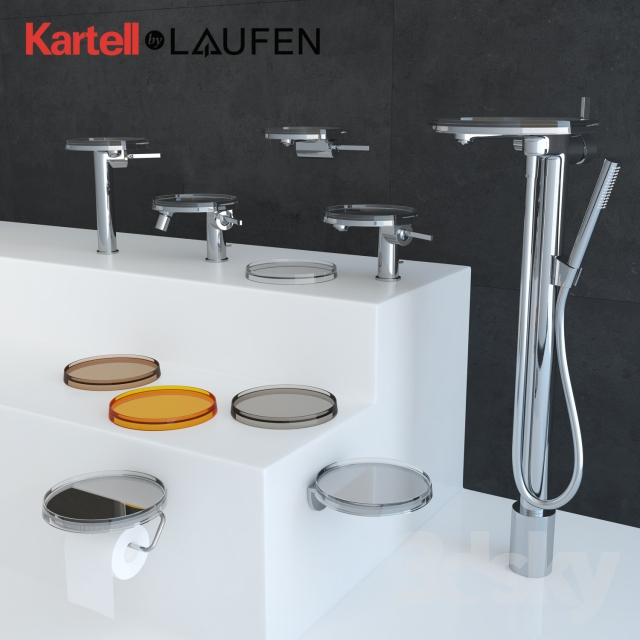 Kartell By Laufen.3d Models Faucet Kartell By Laufen Bathroom Set Faucets