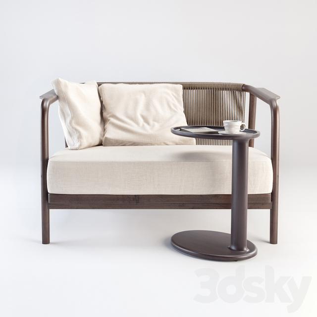 3d Models Sofa Flexform Crono