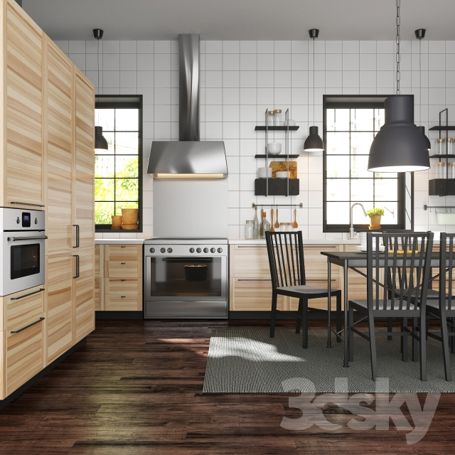 3d models kitchen kitchen ikea metod torhamn ash. Black Bedroom Furniture Sets. Home Design Ideas