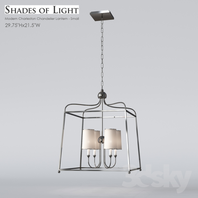 reputable site 6d560 0aec0 3d models: Ceiling light - Shades of Light Modern Charleston ...