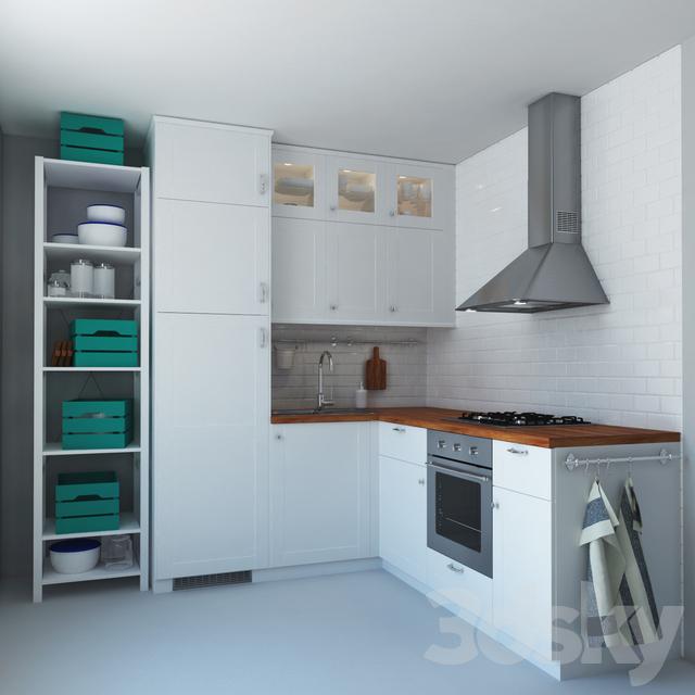 3d models kitchen ikea method savedal for Ikea cucina 3d
