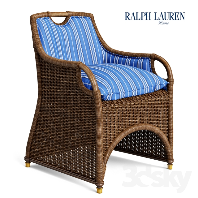 3d Models Arm Chair Ralph Lauren Jamaica Wicker Dining Chair