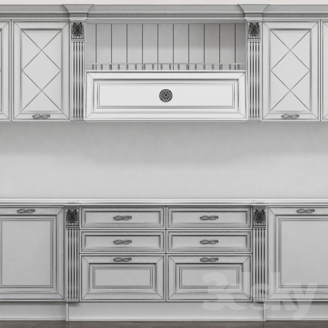 3d models: Kitchen - Kitchen Caviar Miton Cucine