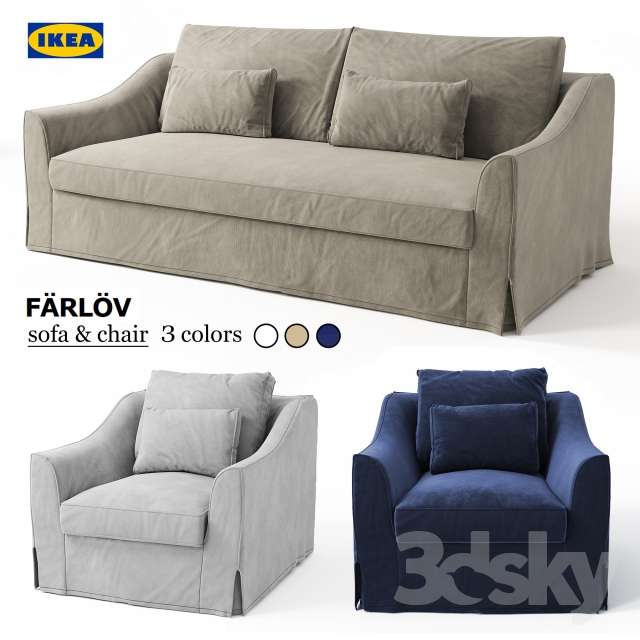 3d Models Sofa Sofa Amp Chair Ikea Farlov