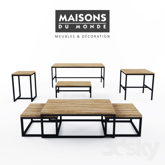 3d models table maisons du monde long island table - Collection maison du monde ...