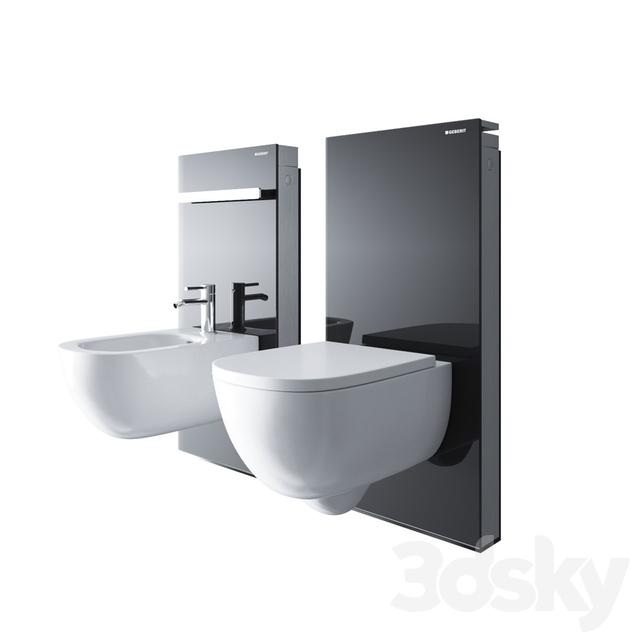 3d models toilet and bidet geberit monolith. Black Bedroom Furniture Sets. Home Design Ideas