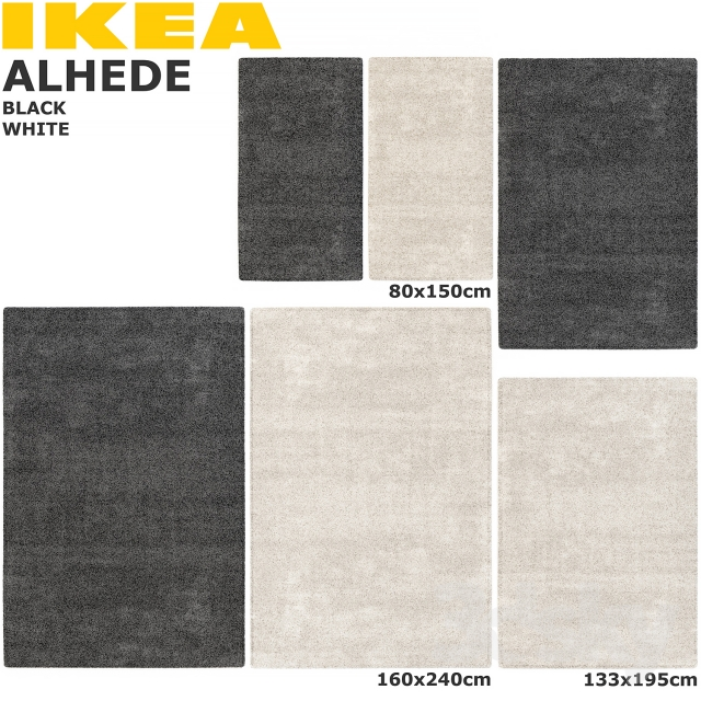Ikea Off White Rug 2019: IKEA ALHEDE (ALHEDE) RUG SET